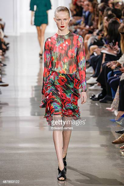 A model walks the runway during the Jason Wu Spring/Summer 2016 fashion show at Spring Studios on September 11 2015 in New York City