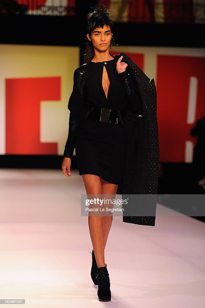 A model walks the runway during the Jean Paul Gaultier Fall/Winter 2013 Ready-to-Wear show as part of Paris Fashion Week on March 2, 2013 in Paris, France.