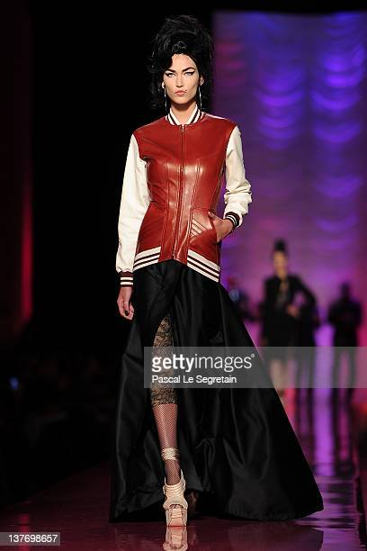 A model walks the runway during the Jean Paul Gaultier Spring/Summer 2012 HauteCouture Show as part of Paris Fashion Week on January 25 2012 in Paris...