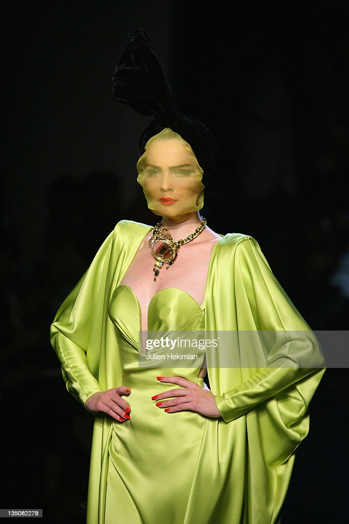 A model walks the runway during the Jean-Paul Gaultier fashion show as part of the Paris Haute Couture Fashion Week Fall/Winter 2011 on July 7, 2010 in Paris, France.