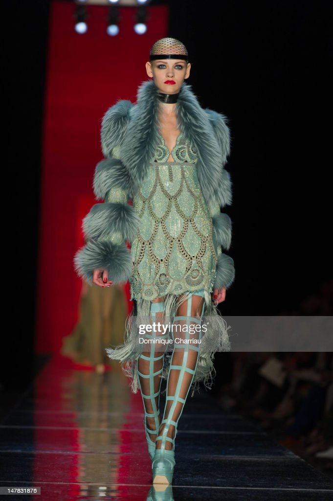 A model walks the runway during the Jean-Paul Gaultier Haute-Couture Show as part of Paris Fashion Week Fall / Winter 2013 on July 4, 2012 in Paris, France.