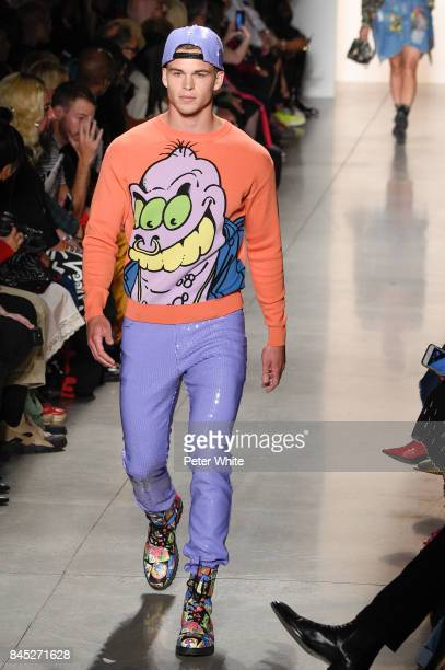 A model walks the runway during the Jeremy Scott fashion show during New York Fashion Week on September 8 2017 in New York City