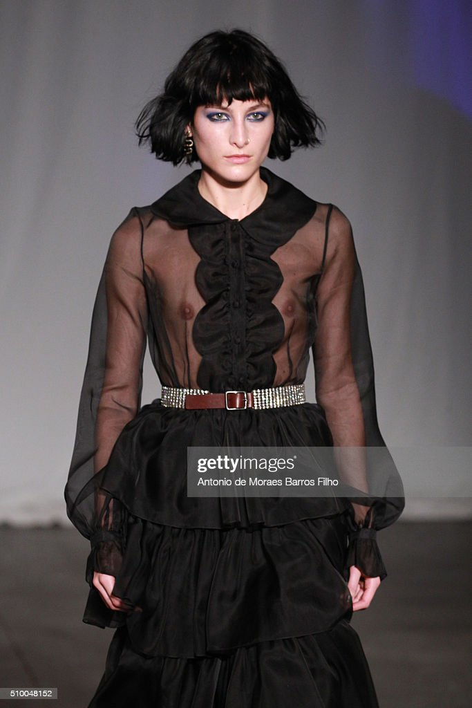A model walks the runway during the Jill Stuart show as a part of Fall 2016 New York Fashion Week at Industria Superstudio on February 13, 2016 in New York City.