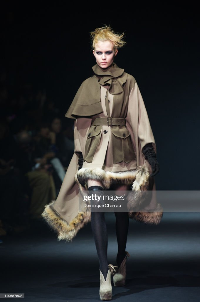 A model walks the Runway during the John Galliano Ready-To-Wear Fall/Winter 2012 show as part of Paris Fashion Week at Espace Ephemere Tuileries on March 4, 2012 in Paris, France.