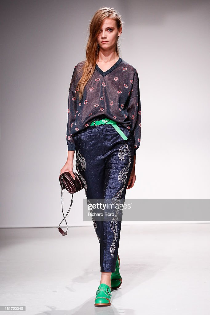 A model walks the runway during the Julien David show as part of the Paris Fashion Week Womenswear Spring/Summer 2014 on September 24, 2013 in Paris, France.