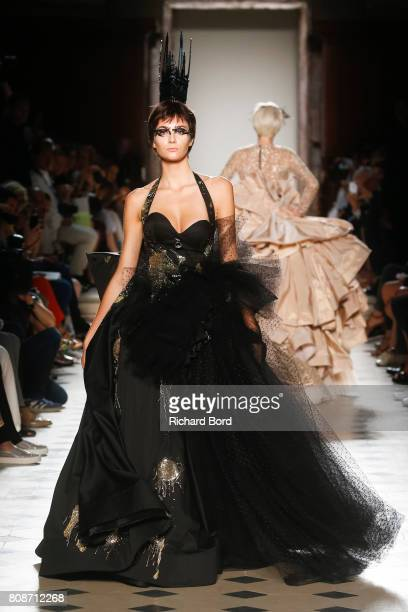 A model walks the runway during the Julien Fournie Haute Couture Fall/Winter 20172018 show as part of Haute Couture Paris Fashion Week on July 4 2017...