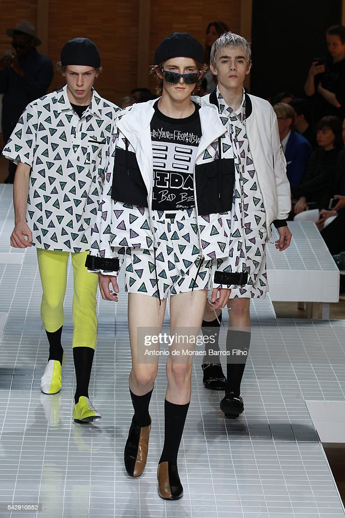 A model walks the runway during the Kenzo Menswear Spring/Summer 2017 show as part of Paris Fashion Week on June 25, 2016 in Paris, France.