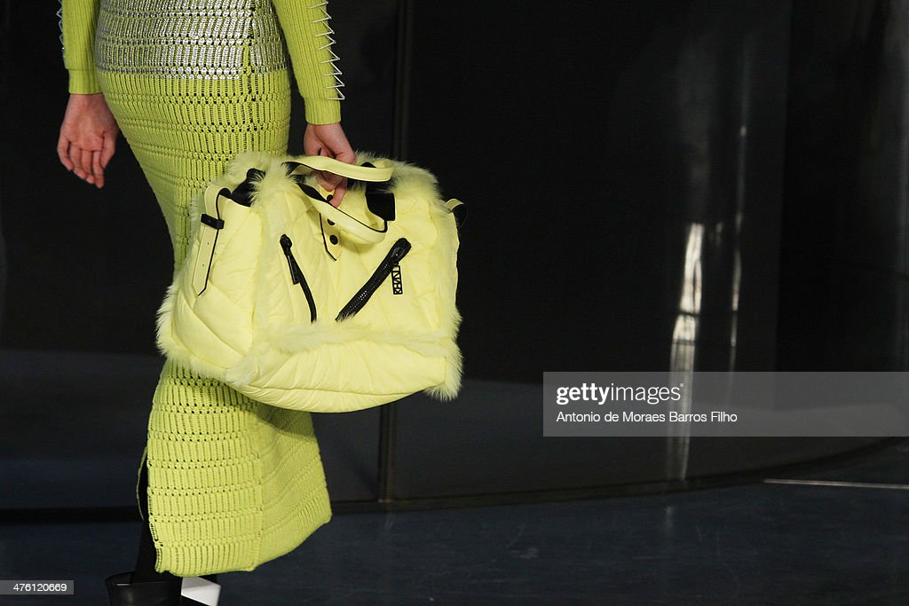 A model walks the runway (detail) during the Kenzo show as part of the Paris Fashion Week Womenswear Fall/Winter 2014-2015 on March 2, 2014 in Paris, France.