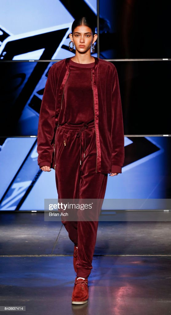 model-walks-the-runway-during-the-kith-sport-fashion-show-at-the-car-picture-id843937414