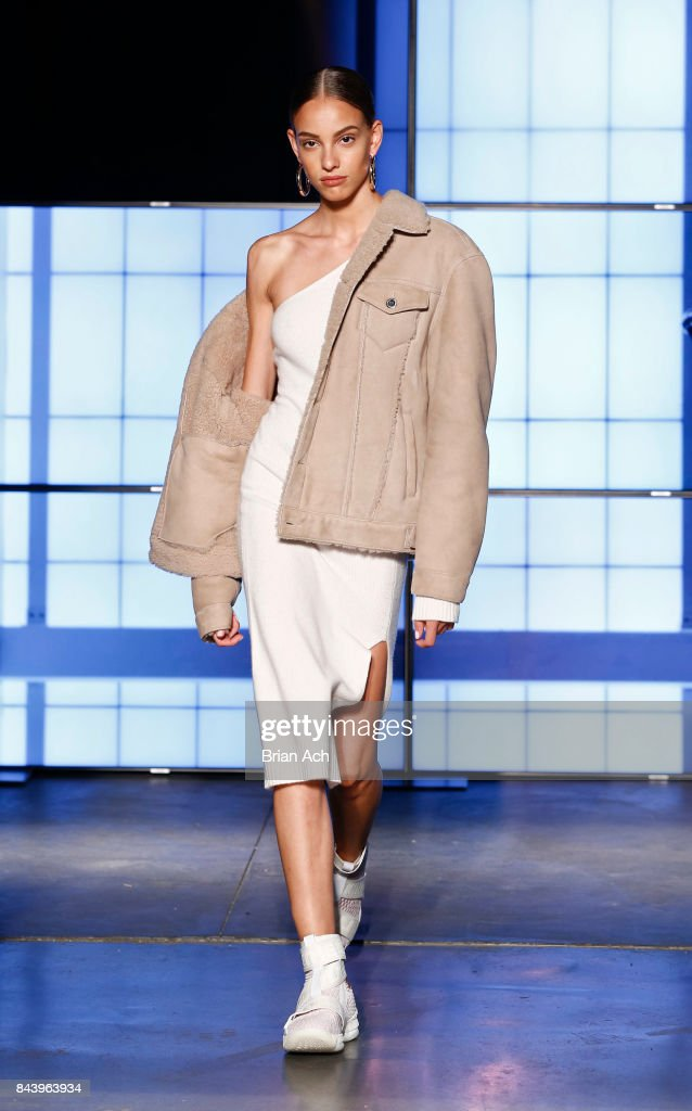 model-walks-the-runway-during-the-kith-sport-fashion-show-at-the-car-picture-id843963934