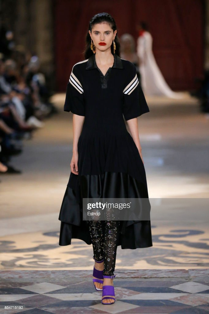 model-walks-the-runway-during-the-koche-show-as-part-of-the-paris-picture-id854715192