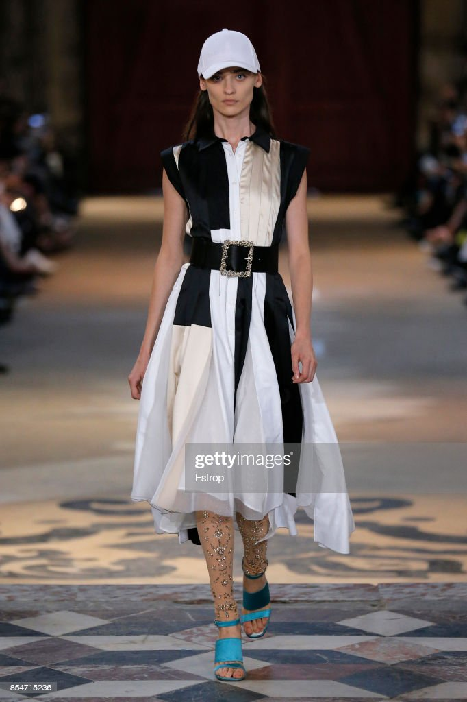 model-walks-the-runway-during-the-koche-show-as-part-of-the-paris-picture-id854715236