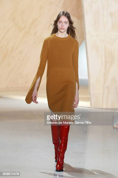 A model walks the runway during the Lacoste show as a part of Fall 2016 New York Fashion Week at Spring Studios on February 13 2016 in New York City
