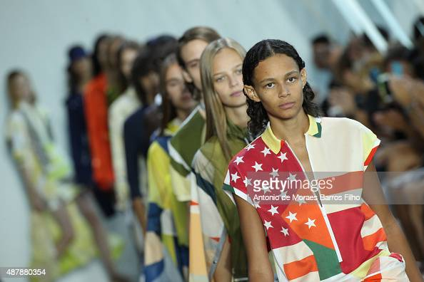 A model walks the runway during the Lacoste show as a part of Spring 2016 New York Fashion Week on September 12 2015 in New York City