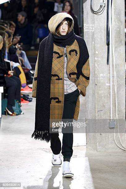 A model walks the runway during the Lanvin Menswear Fall/Winter 20172018 show as part of Paris Fashion Week on January 22 2017 in Paris France