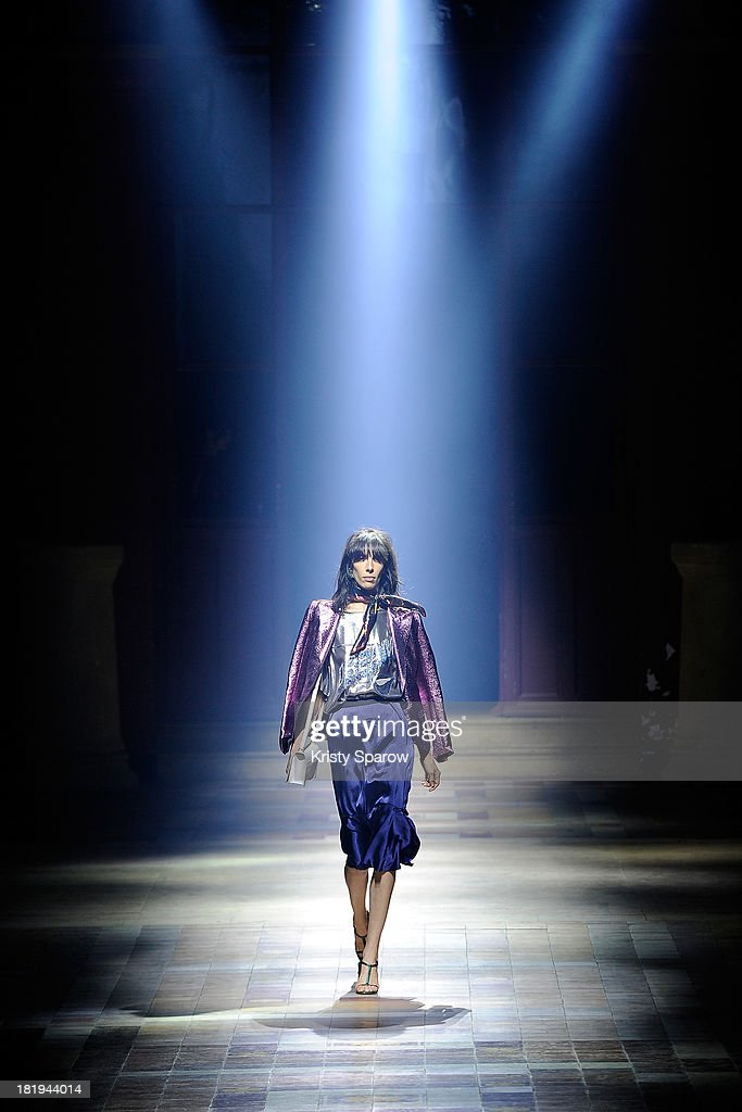 A model walks the runway during the Lanvin show as part of Paris Fashion Week Womenswear Spring/Summer 2014 on September 26, 2013 in Paris, France.