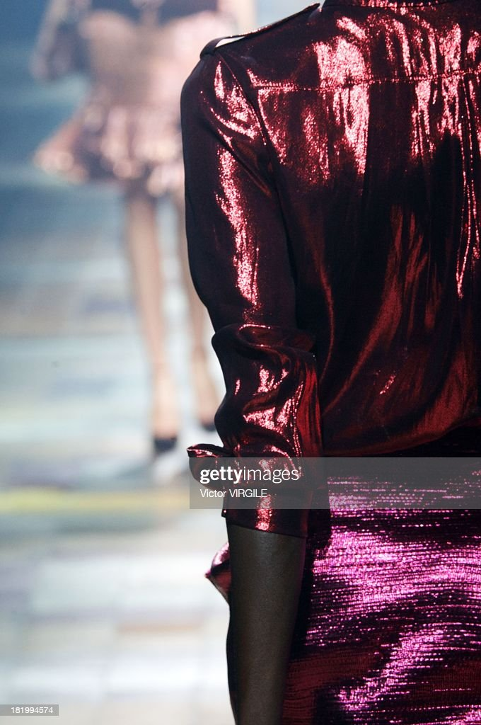 A model (fashion detail) walks the runway during the Lanvin show as part of Paris Fashion Week Womenswear Spring/Summer 2014 on September 26, 2013 in Paris, France.