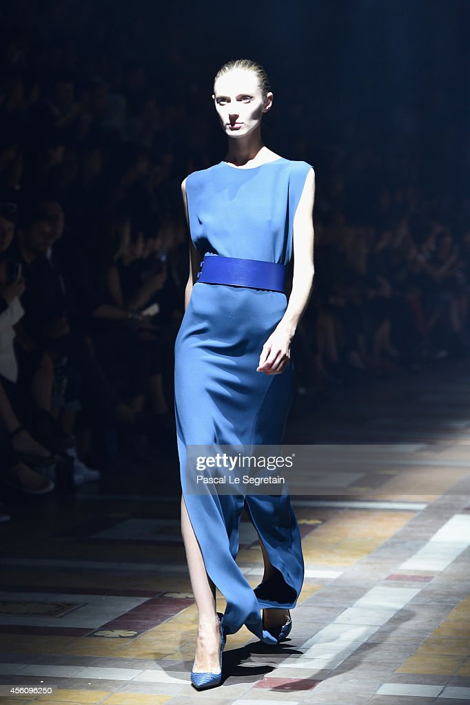 A model walks the runway during the Lanvin show as part of the Paris Fashion Week Womenswear Spring/Summer 2015 on September 25 2014 in Paris France