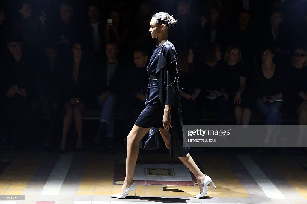A model walks the runway during the Lanvin show as part of the Paris Fashion Week Womenswear Spring/Summer 2015 on September 25, 2014 in Paris, France.