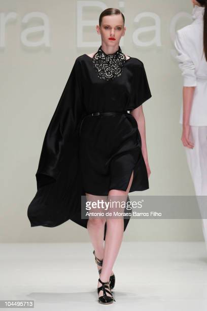 A model walks the runway during the Laura Biagiotti Milan Fashion Week Womenswear S/S 2011 show on September 27 2010 in Milan Italy