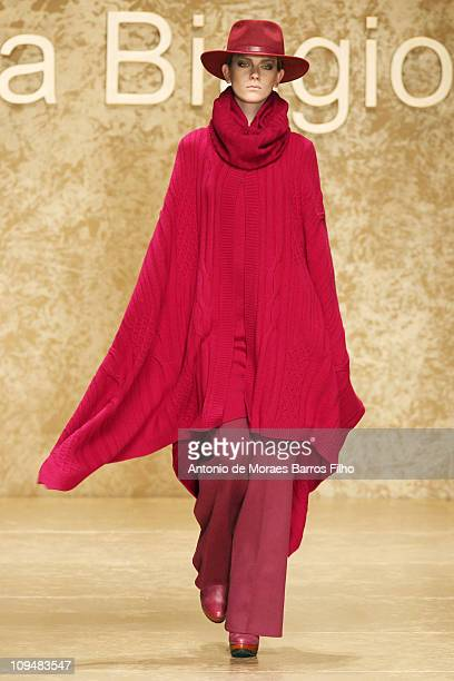 A model walks the runway during the Laura Biagiotti show as part of Milan Fashion Week Womenswear Autumn/Winter 2011 on February 27 2011 in Milan...