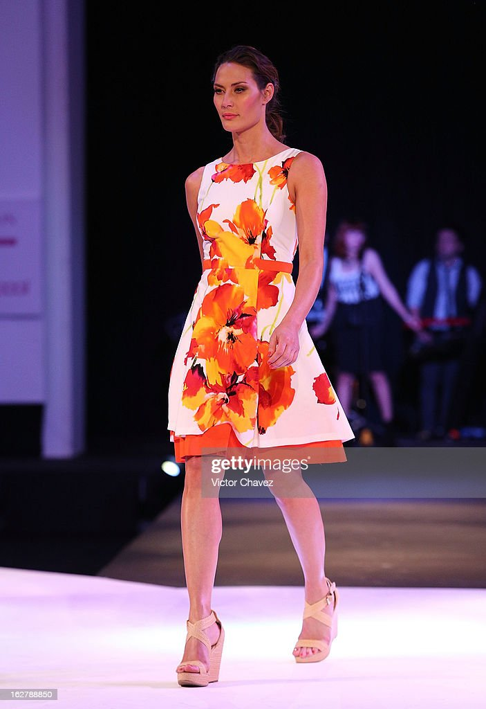 A model walks the runway during the Liverpool Fashion Fest Spring/Summer 2013 fashion show on February 26, 2013 in Mexico City, Mexico.
