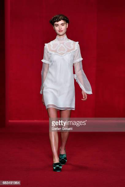 A model walks the runway during the MacGraw show at MercedesBenz Fashion Week Resort 18 Collections at Carriageworks on May 16 2017 in Sydney...