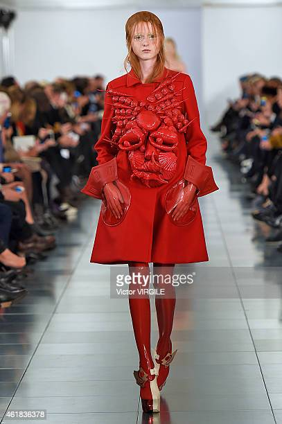 A model walks the runway during the Maison Martin Margiela Haute Couture Spring Summer 2015/2016 show on January 12 2015 in London United Kingdom