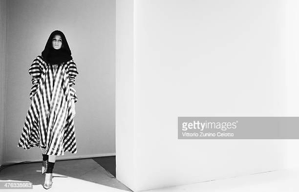 A model walks the runway during the Maison Rabih Kayrouz show as part of the Paris Fashion Week Womenswear Fall/Winter 20142015 at Palais de Tokio on...