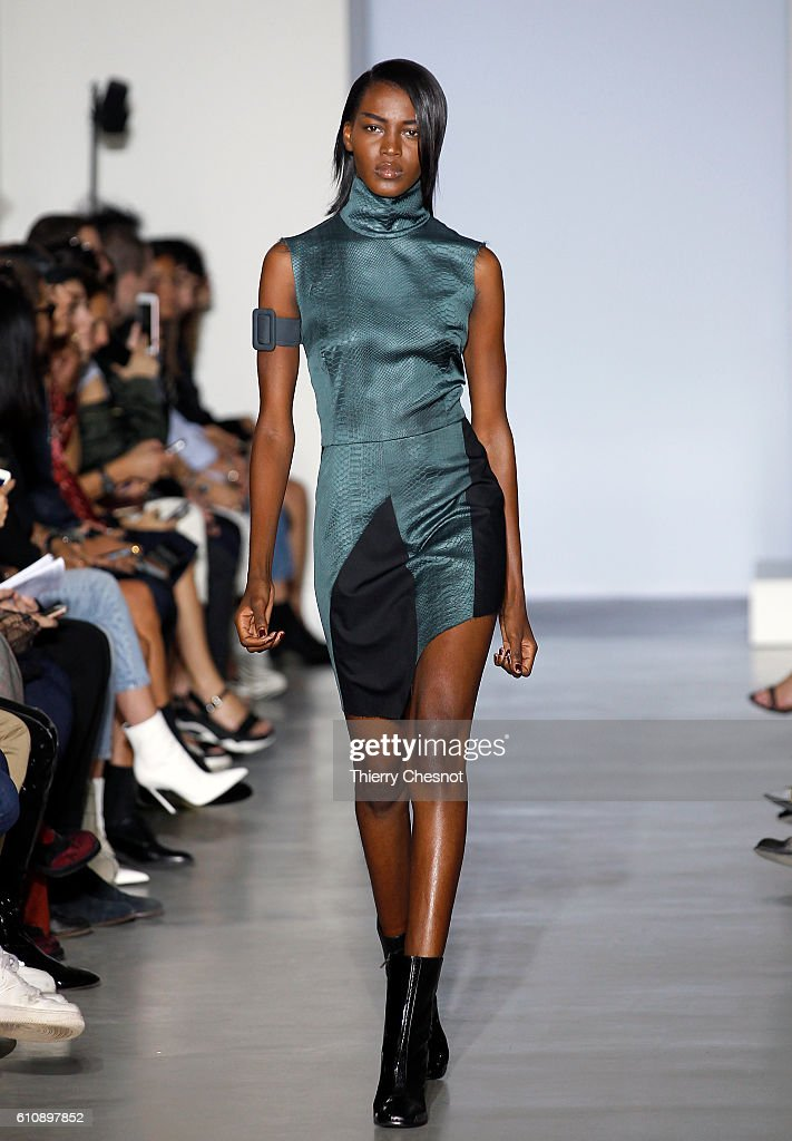 model-walks-the-runway-during-the-maison-yang-li-show-as-part-of-the-picture-id610897852
