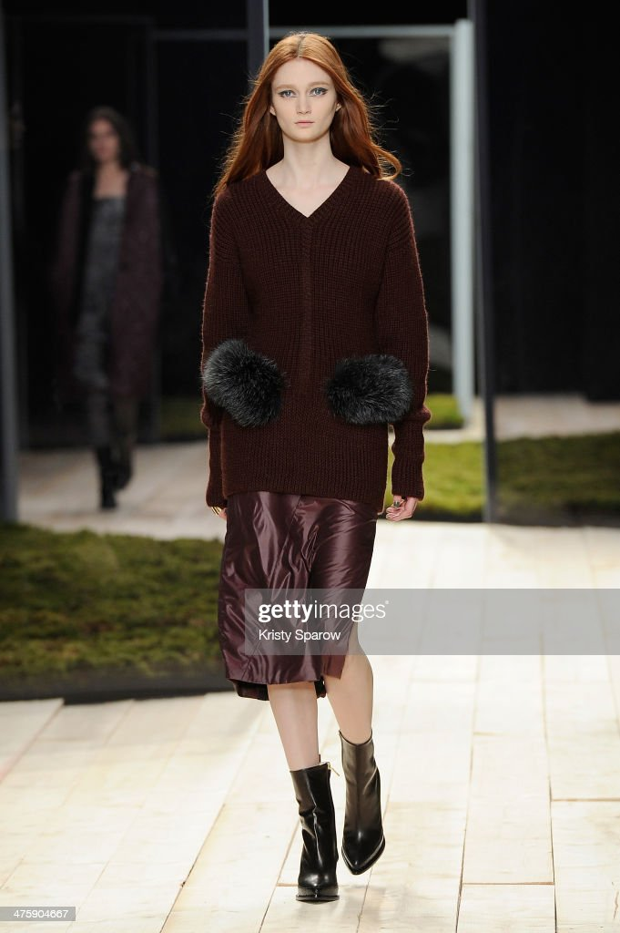 A model walks the runway during the Maiyet show as part of Paris Fashion Week Womenswear Fall/Winter 2014-2015 on March 1, 2014 in Paris, France.