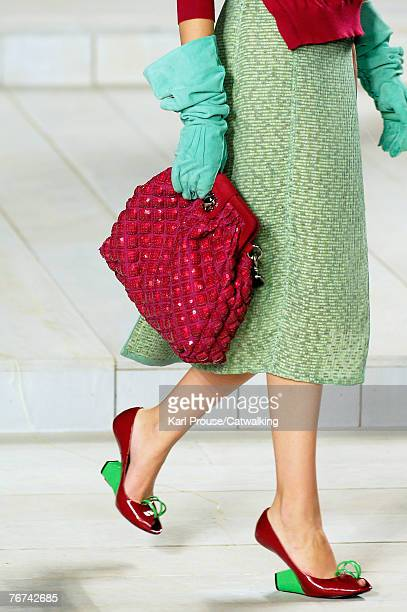 A model walks the runway during the Marc Jacobs 2008 Fashion Show at the NY Armory during the MercedesBenz Fashion Week Spring 2008 on September 10...