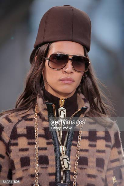A model walks the runway during the Marc Jacobs Runway show February 2017/ Fall 2017 during New York Fashion Week The Showson February 16 2017 in New...