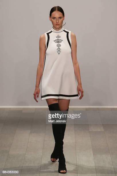 A model walks the runway during the Mariam Seddiq show at MercedesBenz Fashion Week Resort 18 Collections at Carriageworks on May 18 2017 in Sydney...