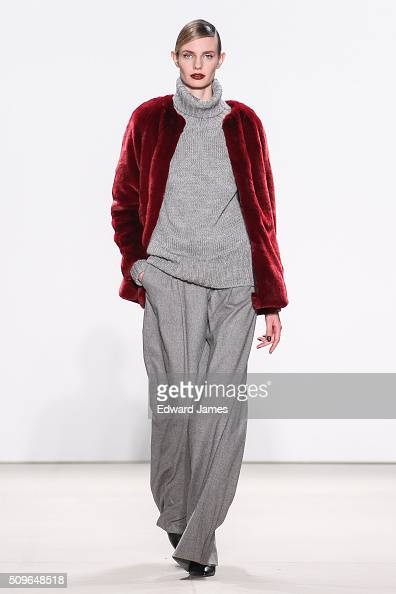 A model walks the runway during the Marissa Webb fashion show at The Gallery Skylight at Clarkson Sq on February 11 2016 in New York City