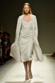 A model walks the runway during the Max Mara show as a part of Milan Fashion Week Womenswear Spring/Summer 2014 on September 19 2013 in Milan Italy