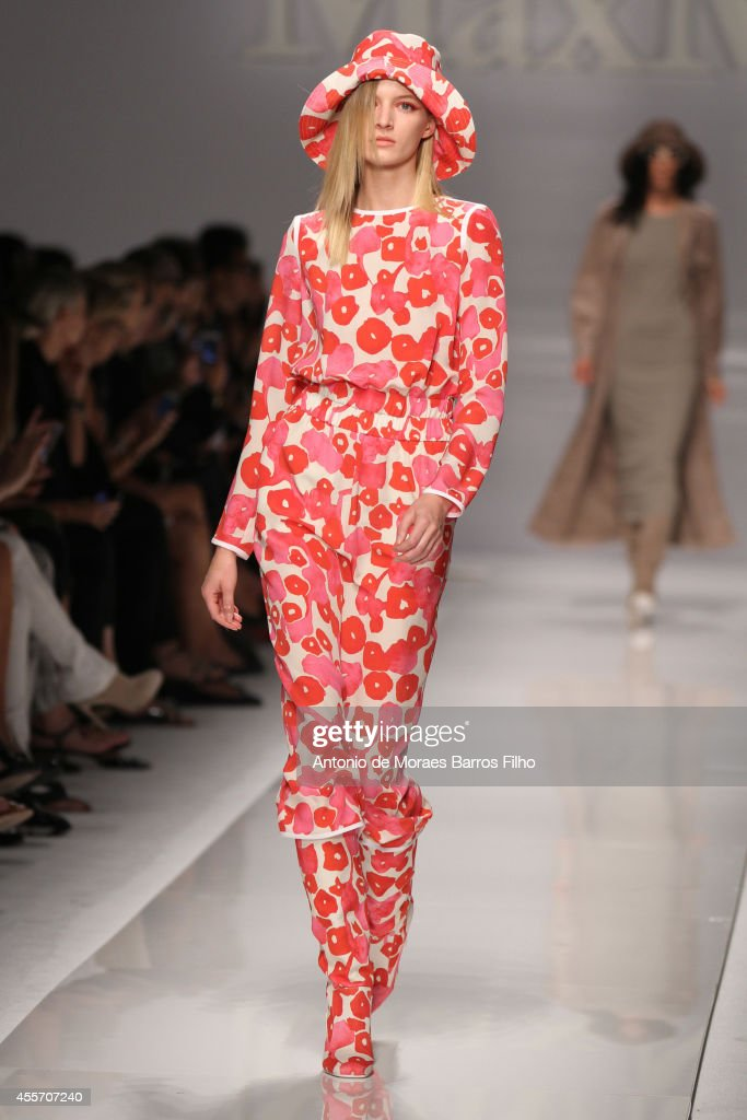 A model walks the runway during the Max Mara show as a part of Milan Fashion Week Womenswear Spring/Summer 2015 on September 18 2014 in Milan Italy