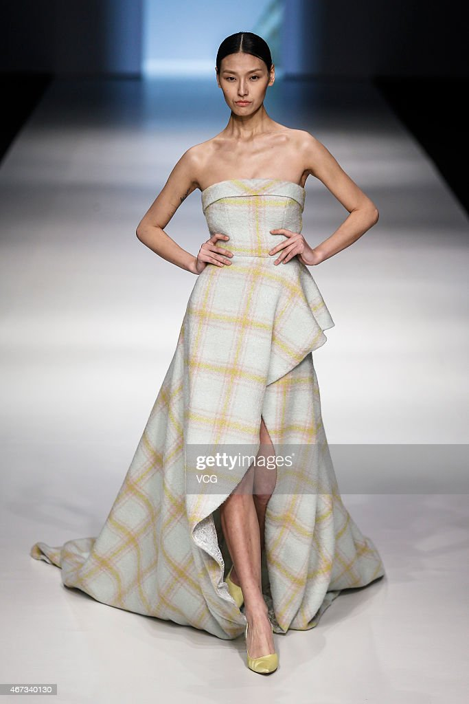 Model walks the runway during the m hiti show as part of the
