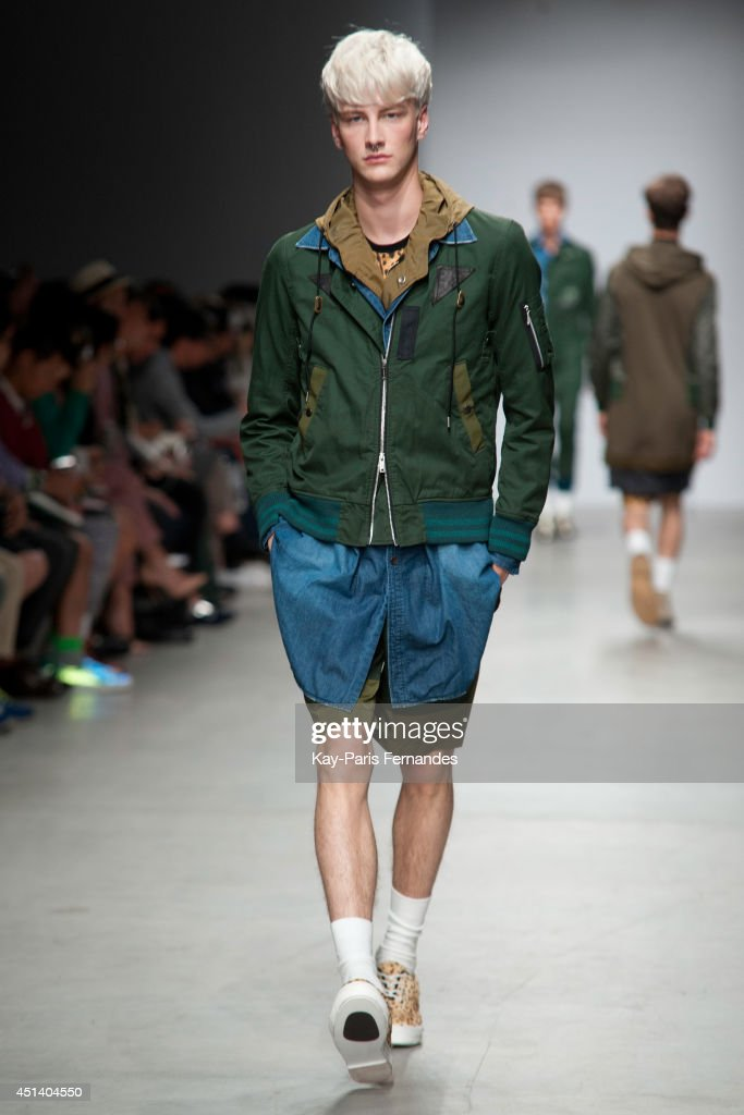 A model walks the runway during the Miharayasuhiro show as part of the Paris Fashion Week Menswear Spring/Summer 2015 on June 28, 2014 in Paris, France.