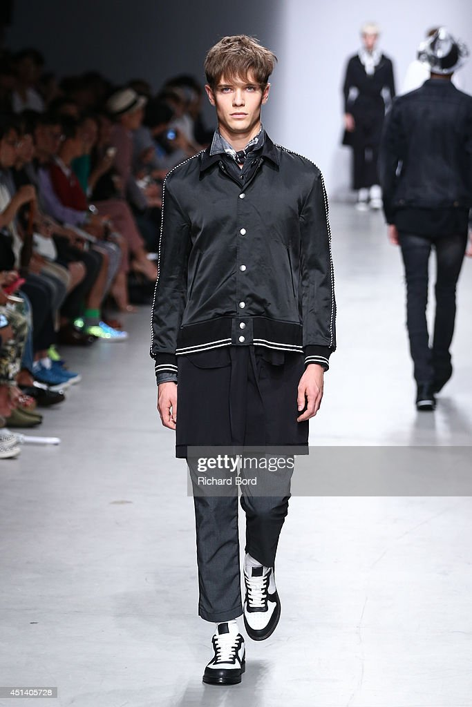 A model walks the runway during the Miharayasuhiro show as part of the Paris Fashion Week Menswear Spring/Summer 2015 at Palais de Tokyo on June 28, 2014 in Paris, France.