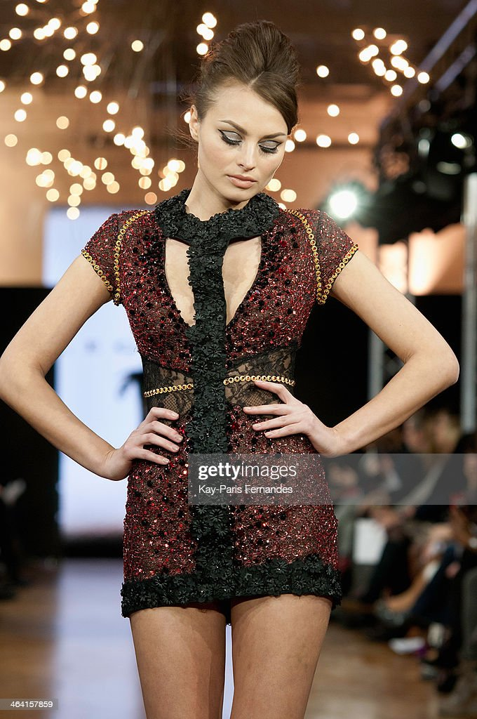 A model walks the runway during the Monaco Legends show as part of Paris Fashion Week Haute-Couture Spring/Summer 2014 on January 21, 2014 in Paris, France.