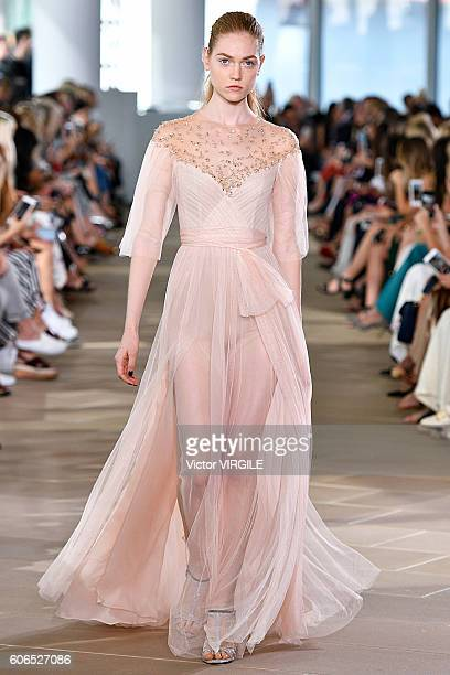 A model walks the runway during the Monique L'Huillier Ready to Wear Spring Summer 2017 fashion show on September 13 2016 in New York City