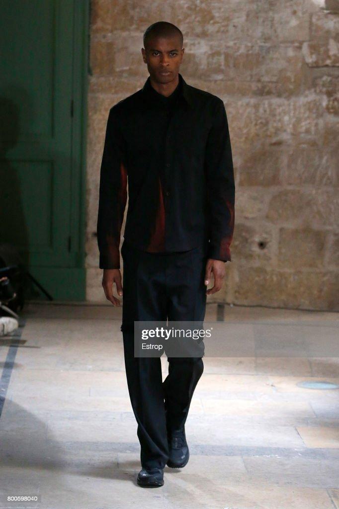 model-walks-the-runway-during-the-namacheko-menswear-springsummer-picture-id800598040
