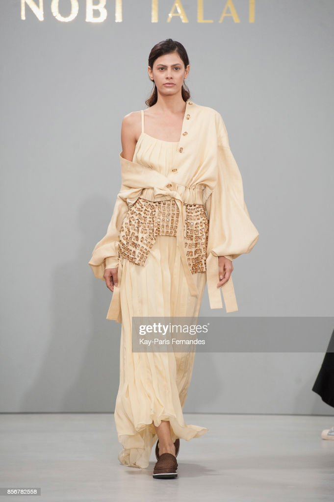 model-walks-the-runway-during-the-nobi-talai-paris-show-as-part-of-picture-id856782558