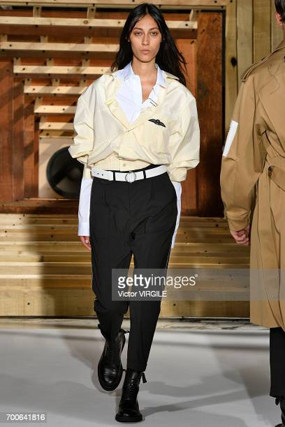 A model walks the runway during the OAMC Menswear Spring/Summer 2018 show as part of Paris Fashion Week on June 21 2017 in Paris France