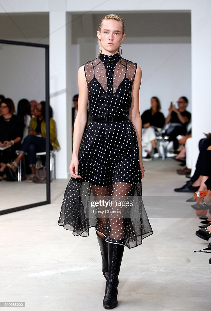 model-walks-the-runway-during-the-olivier-theysen-show-as-part-of-the-picture-id610638900