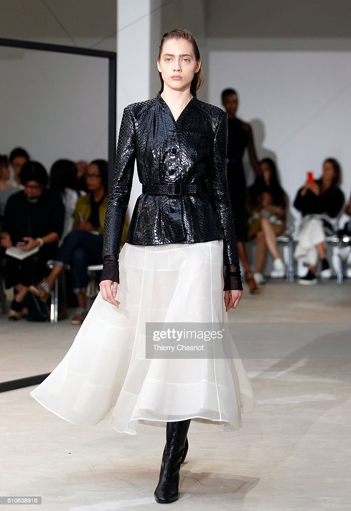 model-walks-the-runway-during-the-olivier-theysen-show-as-part-of-the-picture-id610638918