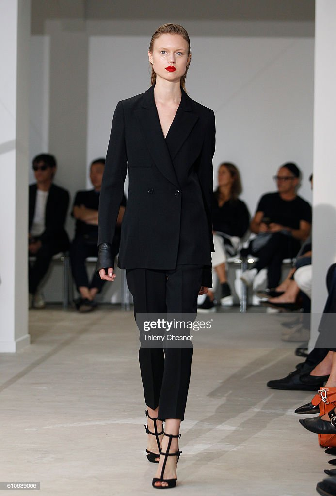 model-walks-the-runway-during-the-olivier-theysen-show-as-part-of-the-picture-id610639066
