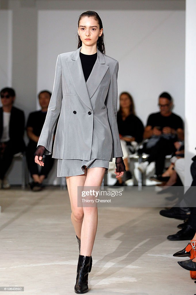 model-walks-the-runway-during-the-olivier-theysen-show-as-part-of-the-picture-id610640592
