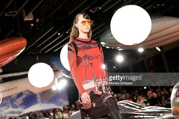 A model walks the runway during the Opening Ceremony Fall 2016 fashion show during New York Fashion Week on February 14 2016 in New York City